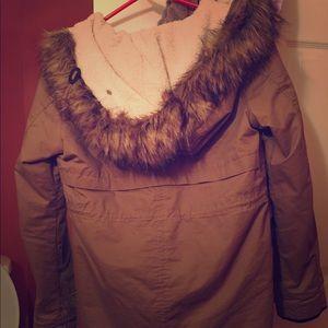 Women's size small tan winter jacket